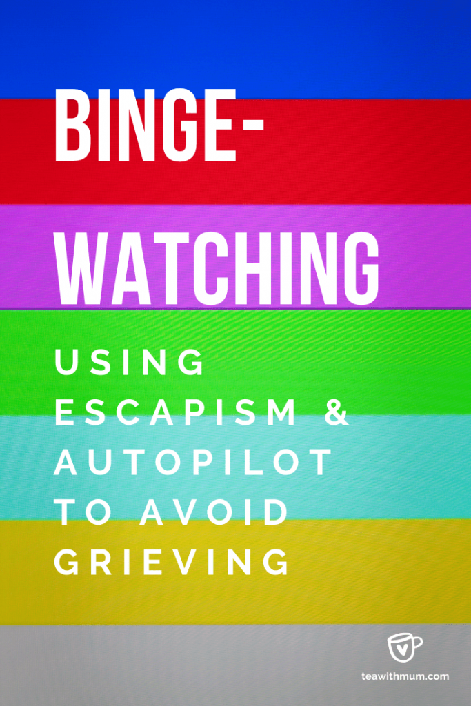 Binge-watching: using escapism and autopilot to avoid grieving: image of end screen for TV