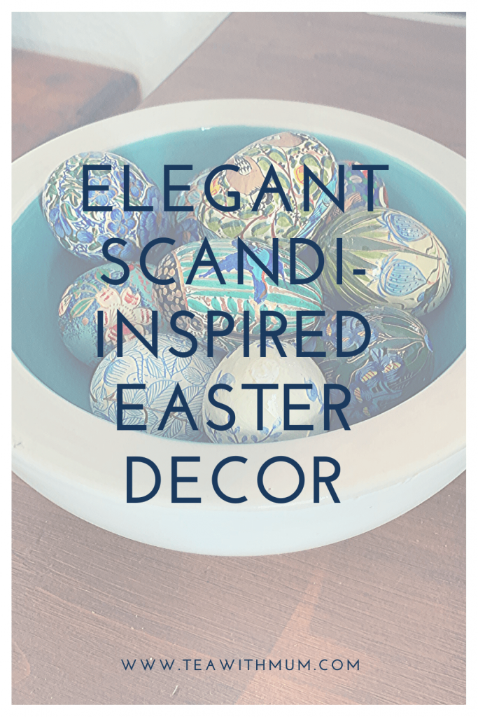 Elegant Scannt-inspired Easter decor. Something old, something new, something blue...