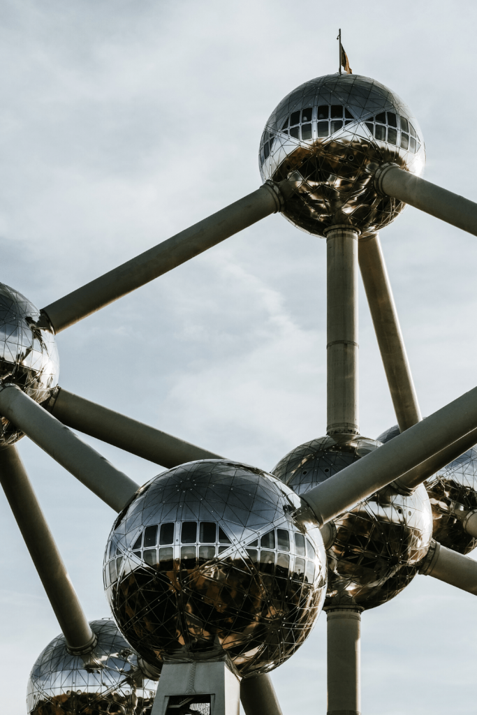 What to see and do in Brussels: Visit Atomium if the skies are clear; Image by Cosmic Serban on Unsplash