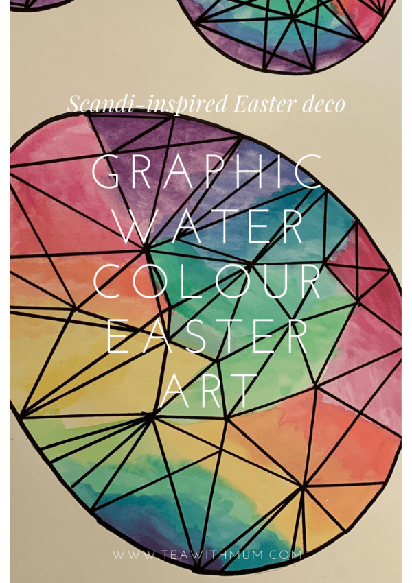 Graphic water colour Easter art
