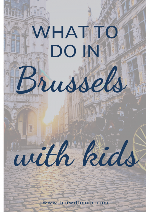 What to see and do in Brussels with kids: view of a horse and cart in the Grand Place