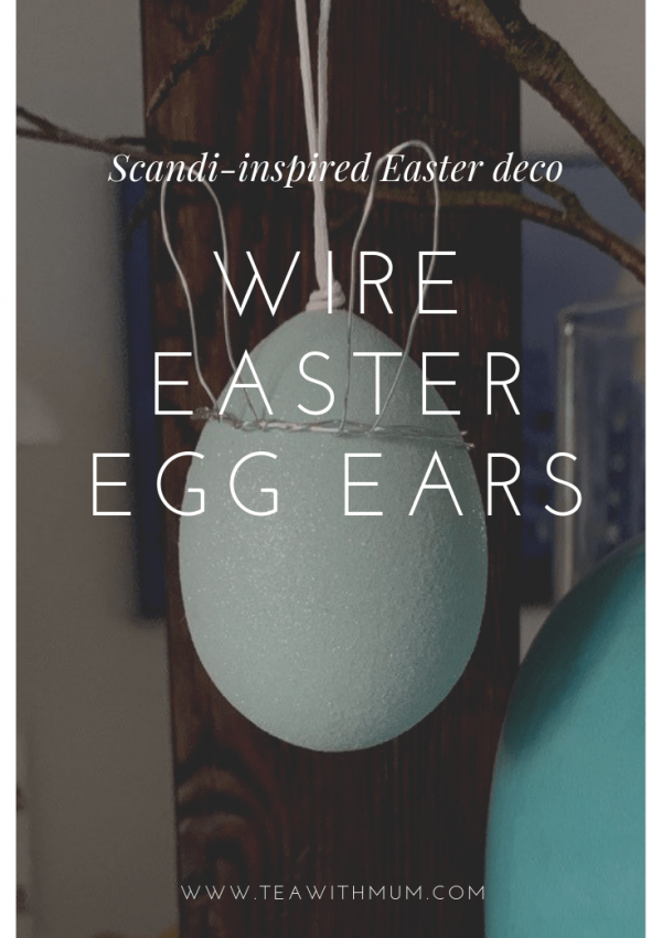 Simple DIY wire Easter bunny ear crowns; easy wire Easter egg ears; simple DIY Scandi-inspired Easter decorations; Easter craft and decor