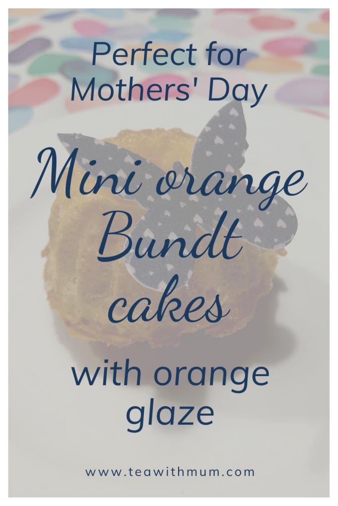 Perfect for Mothers' Day: Mini orange Bundt cakes (mini orange Gugelhüpfe) with orange glaze. Make some for Easter or Mothers' Day brunch or afternoon tea