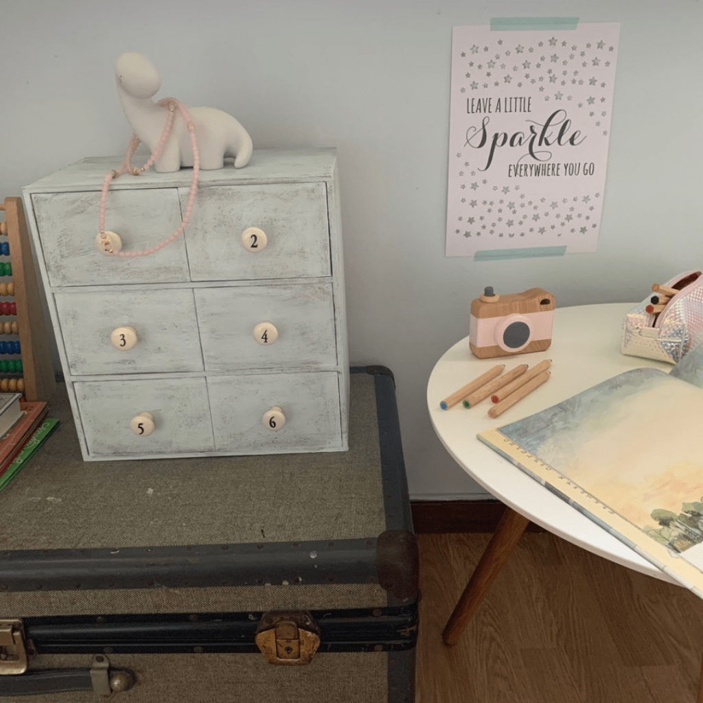 IKEA Moppe numbered drawers in bedroom