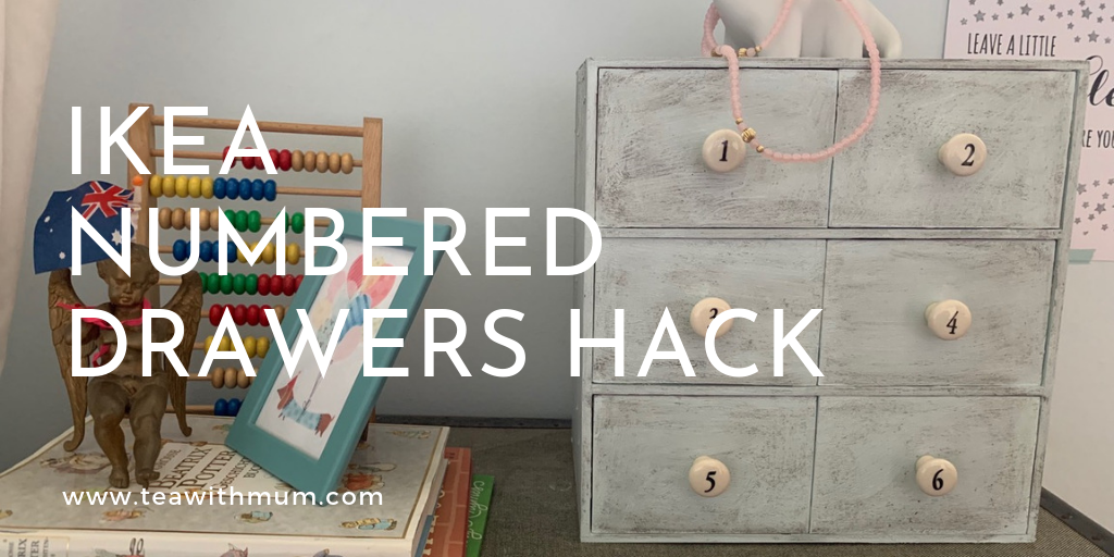 IKEA numbered drawers hack title
