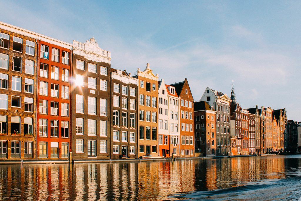 Damrak houses, Amsterdam