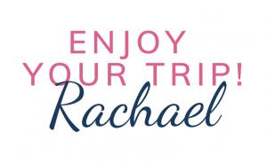 Enjoy your trip sign-off pink