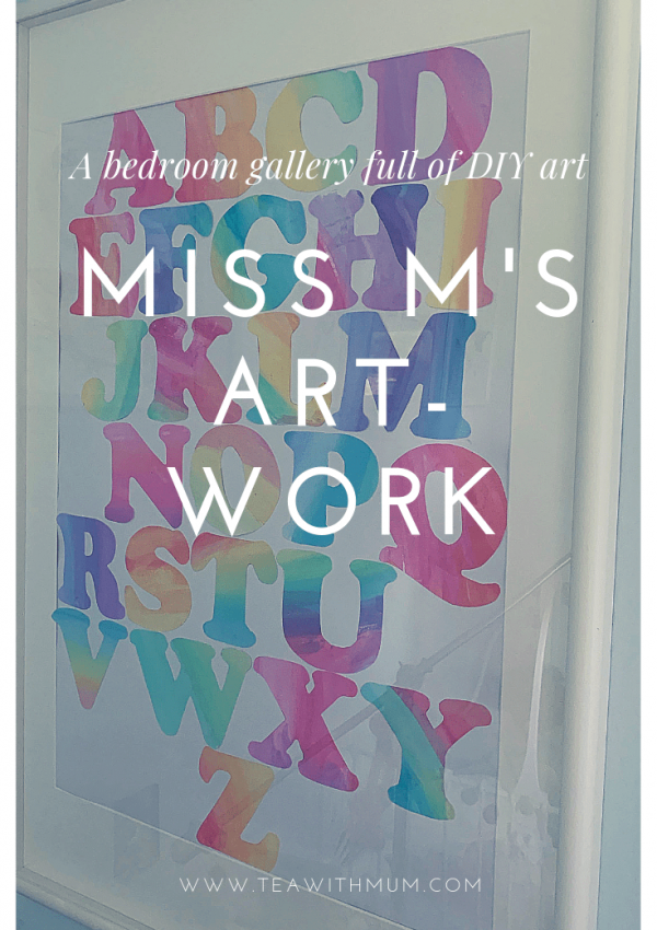 A DIY art gallery: Miss M's Artwork title