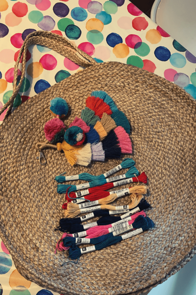 Fun and easy beach bag - what you need to personalize your own store-bought, straw beach bag
