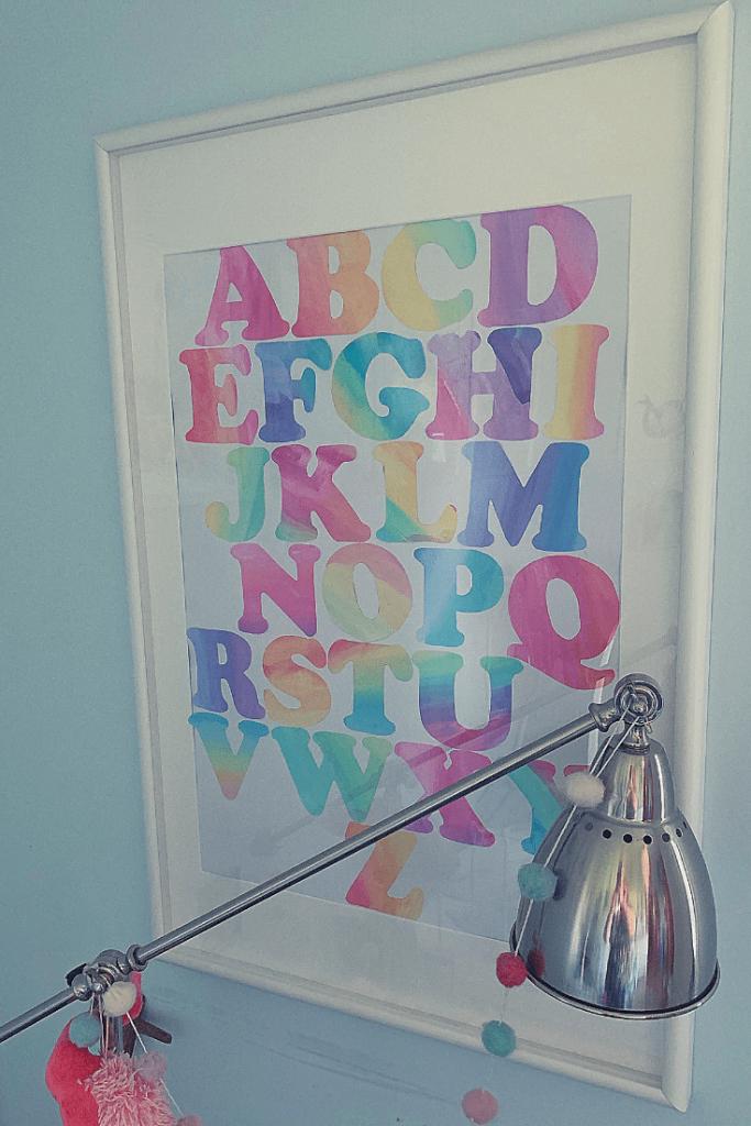 Alphabet art in a gallery of DIY art ideas