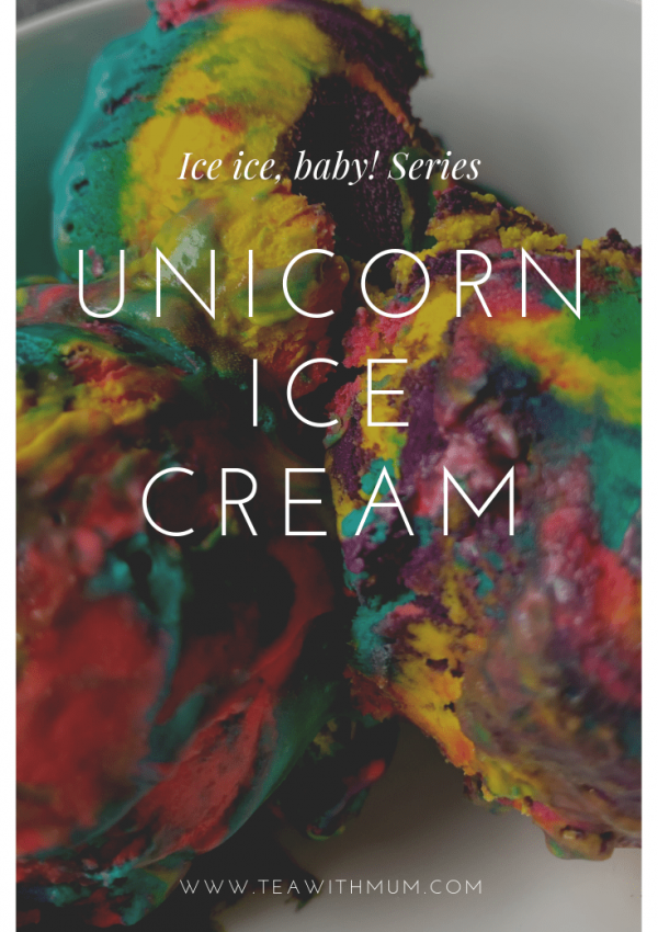 Magical unicorn ice cream