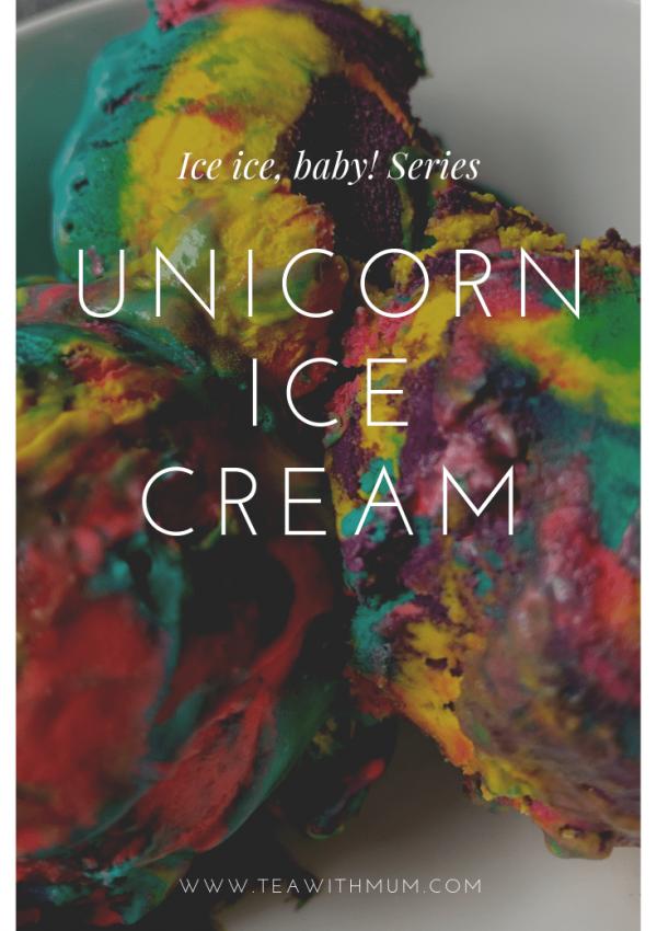 Whimsical unicorn ice cream