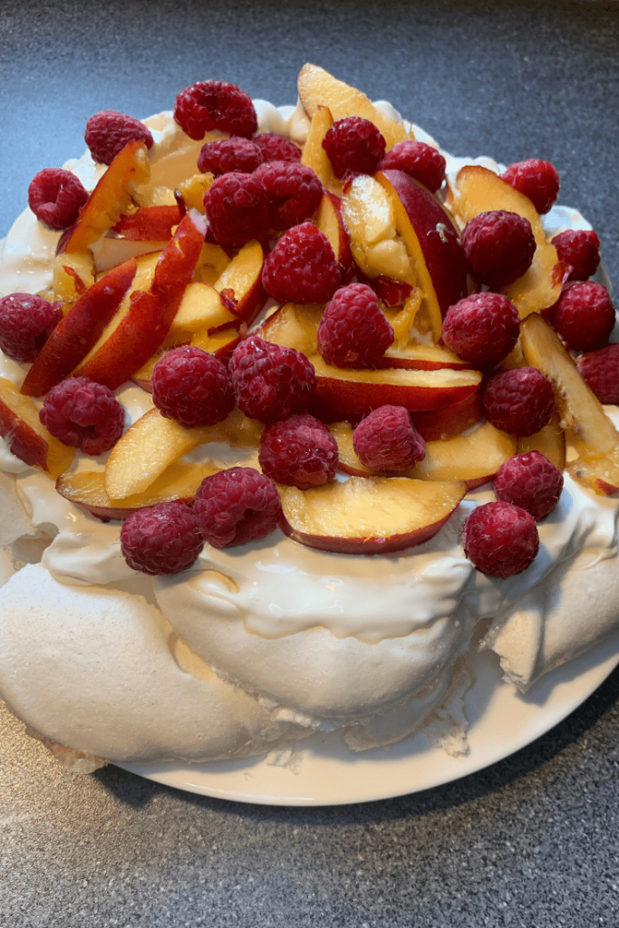 Fresh pavlova: AKA what to do with leftover egg whites