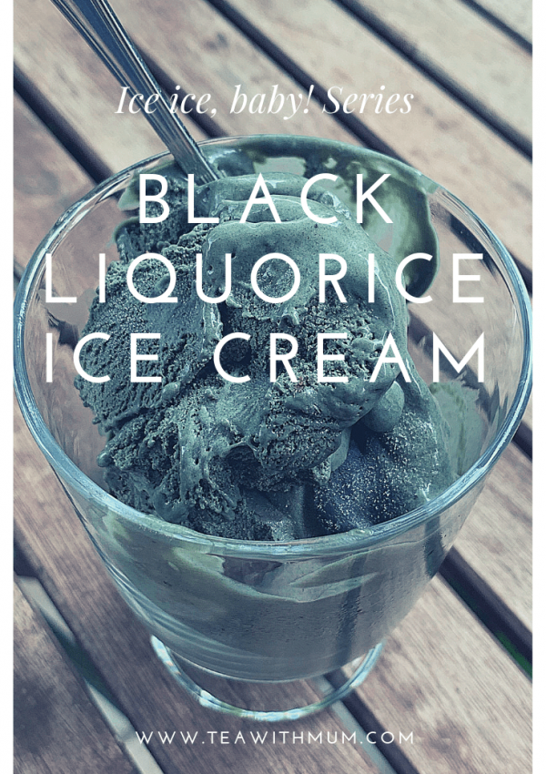 Black liquorice ice cream: unusual yet delicious!