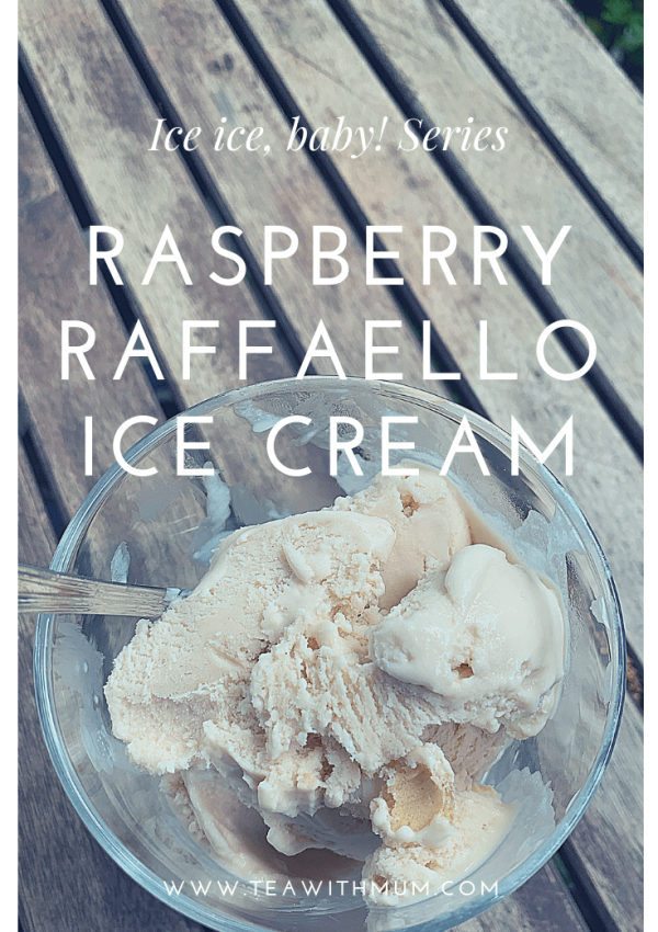 Wonderful raspberry Raffaello ice cream