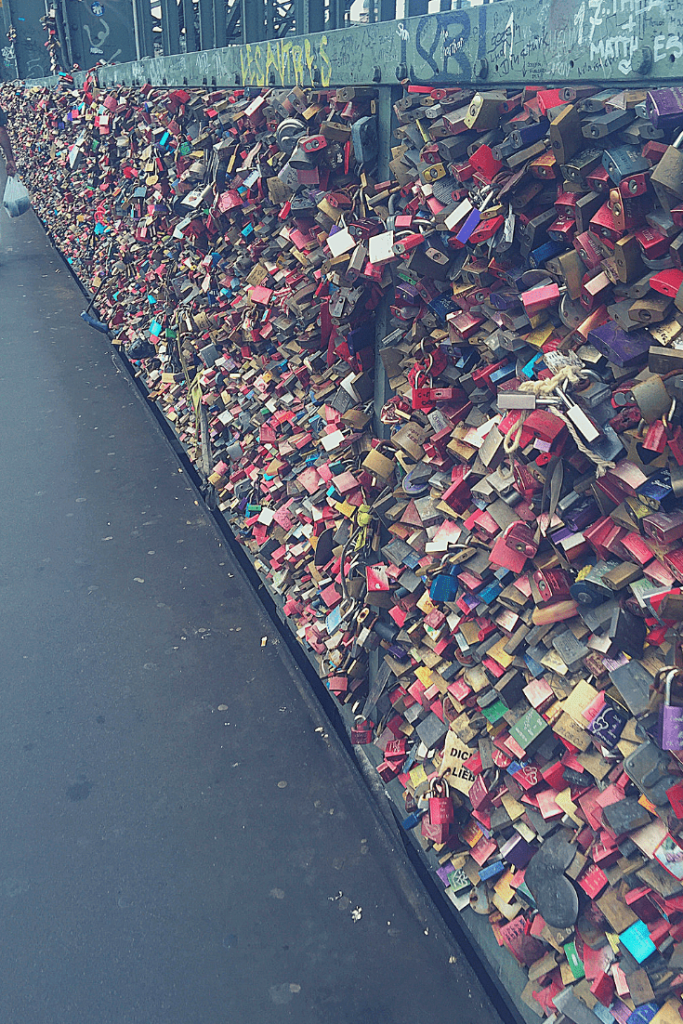 Cologne in a day: love locks on the Hohenzollern Bridge