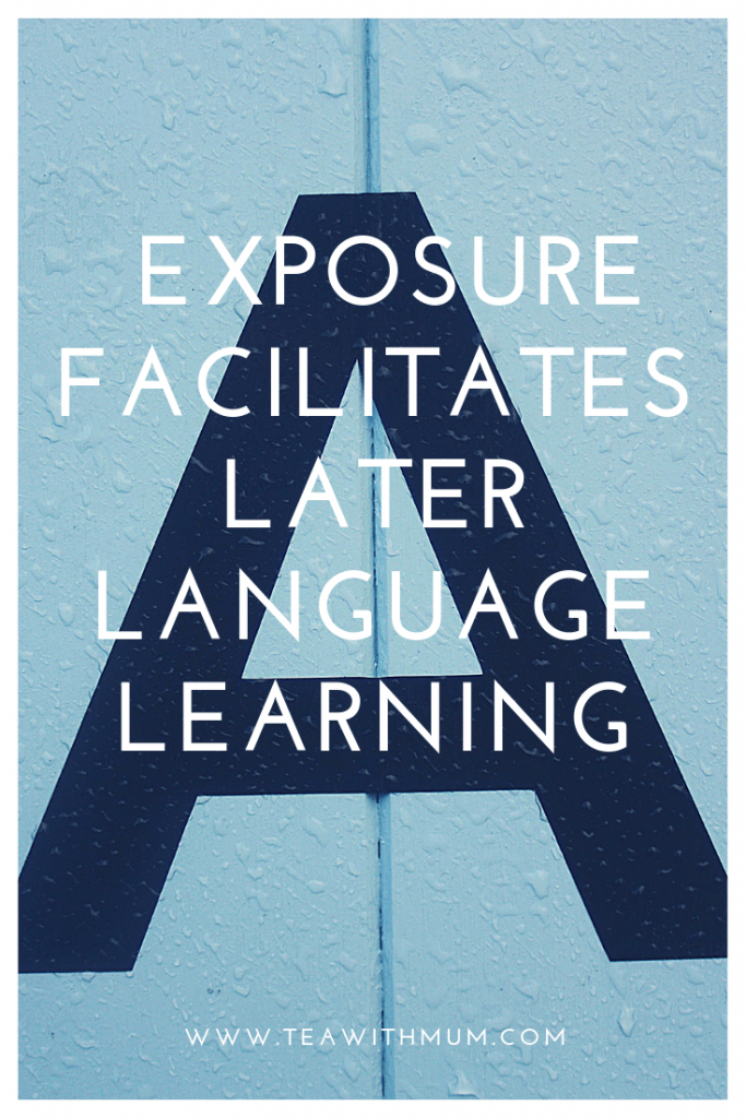 Why foreign language exposure is important: exposure facilitates language learning