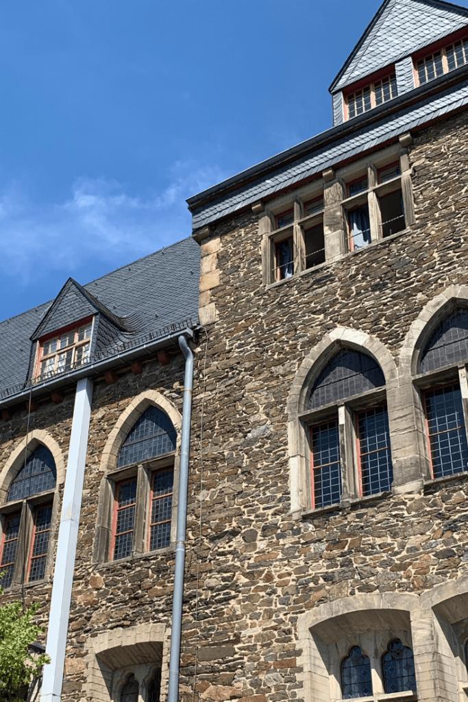 Castle facade, Burg Castle in Solingen