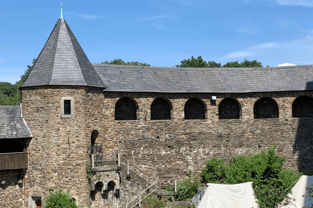 The battlements of Burg Castle in Solingen