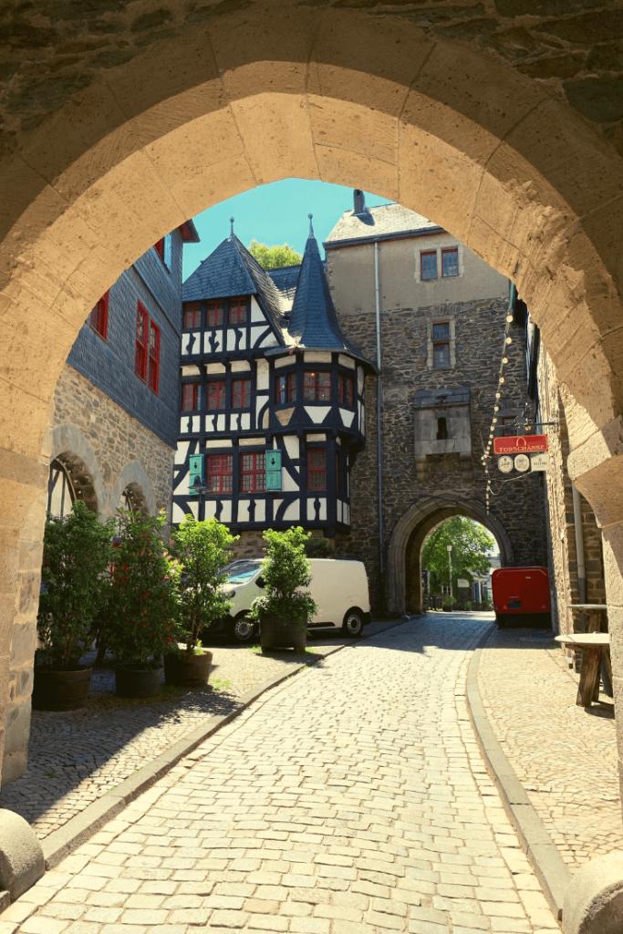 Moat gate at Burg Castle in Solingen