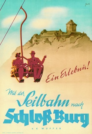 Poster for the chairlift to Burg Castle
