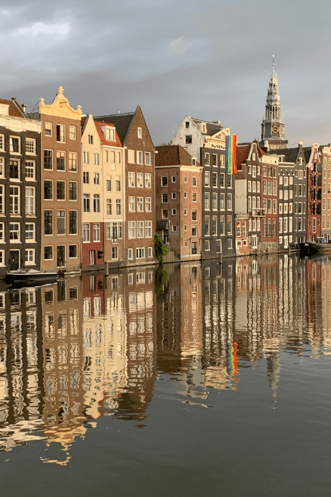 Damrak: some of the best panoramas in Amsterdam. Stop one on our 'best trip ever' walking tour of Amsterdam