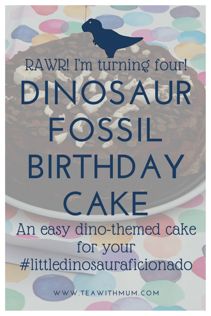 Dinosaur fossil birthday cake: chocolate mousse cake with marshmallow fossils and chocolate dirt. An easy dinosaur-themed birthday cake for your little dinosaur aficionado