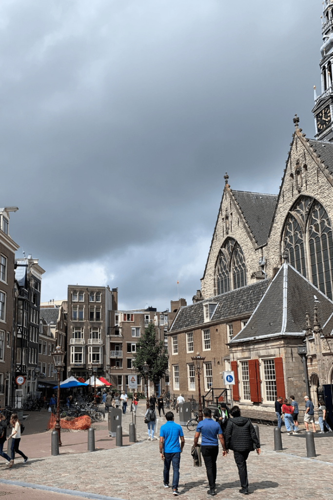 Oude Kerk from the outside, during our mother-daughter trip to Amsterdam