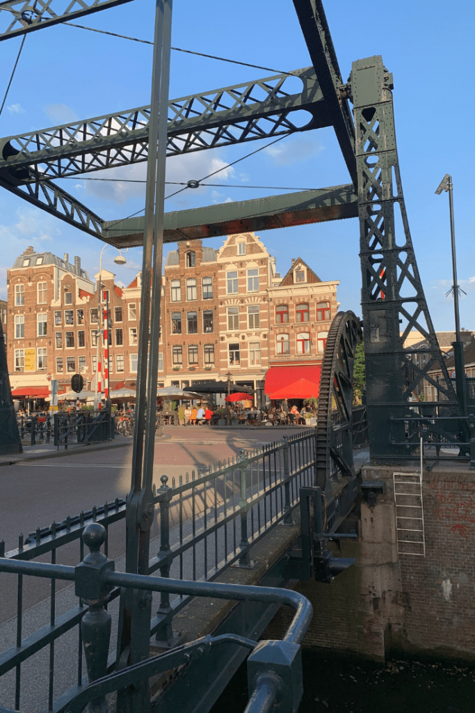 The bridge next to Cafe Kadijk which was raised during dessert on the best trip ever.