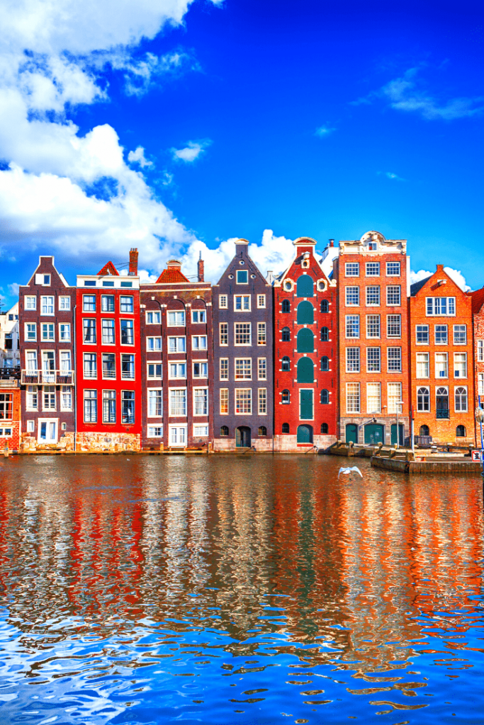 Canal houses in Amsterdam, a must-see for any 48 hours in Amsterdam with kids