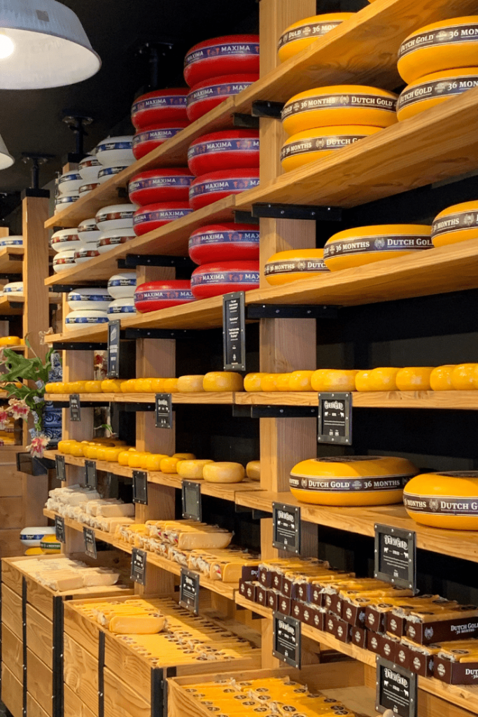 One of the many shops selling Dutch cheese that we found during our mother-daughter trip to Amsterdam