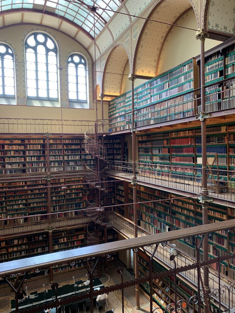 The gorgeous library at the Rijksmuseum, Amsterdam