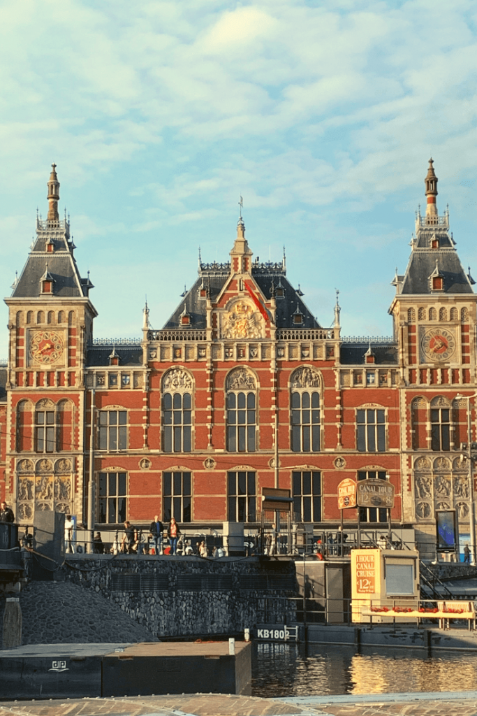 Centraal Station in Amsterdam during our mother-daughter trip. Trains remain the best way to get to Amsterdam from elsewhere.