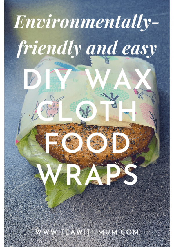 Environmentally-friendly DIY wax cloth food wraps