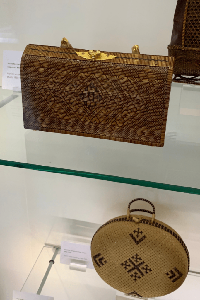 Reason #1 why Amsterdam is a great place to visit with kids of all ages: the variety museums, here cane handbags from the Handbag and Purse Museum