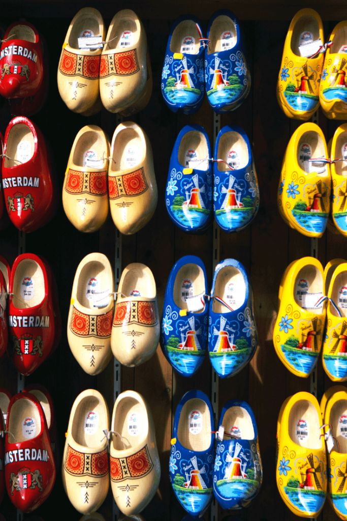 The best trip ever: shopping for souvenirs on our mother-daughter trip to Amsterdam, in this case wooden clogs