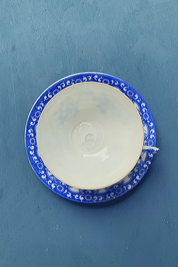 Can't wait to try this out with tea. Flea market find: find china blue and white cup and saucer, Zöppkesmarkt 2019