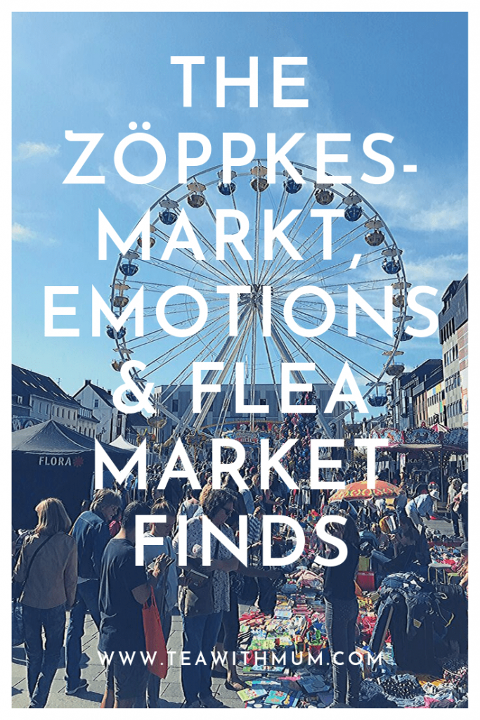 The Zöppkesmarkt, emotions and flea market finds, with image of the market and ferris wheel