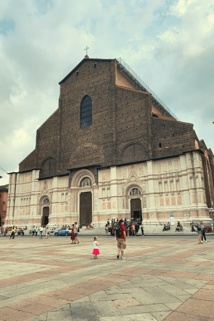 The unfinished Basilica di San Petronio on Piazza Maggiore: What to do in Bologna with kids