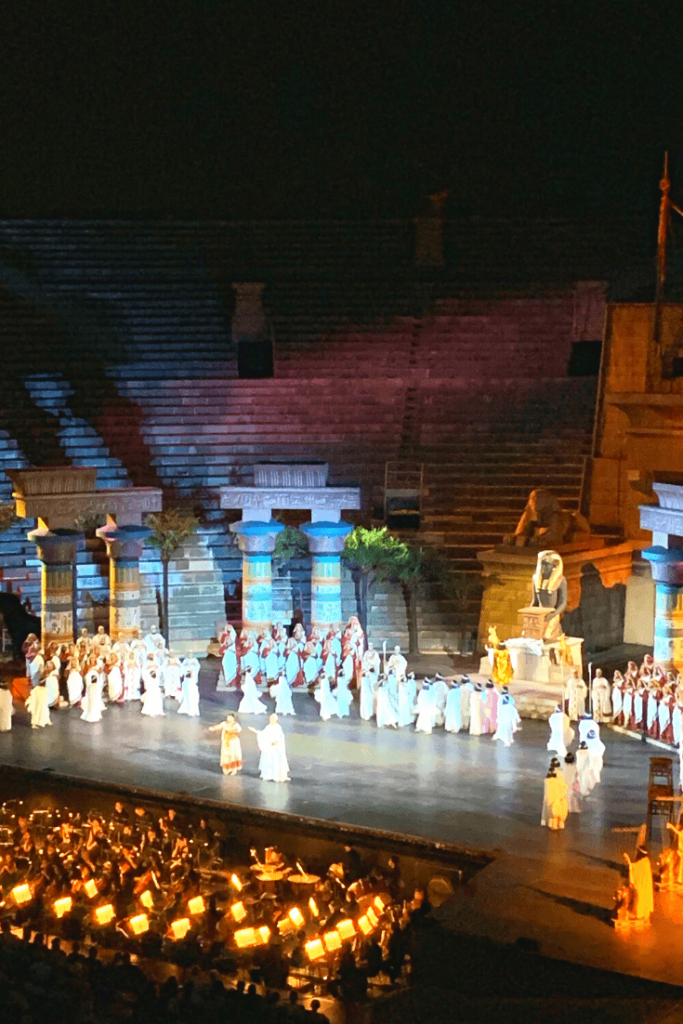 Our experiment of taking our 4 year old to the opera in Verona: Aida, Act 1