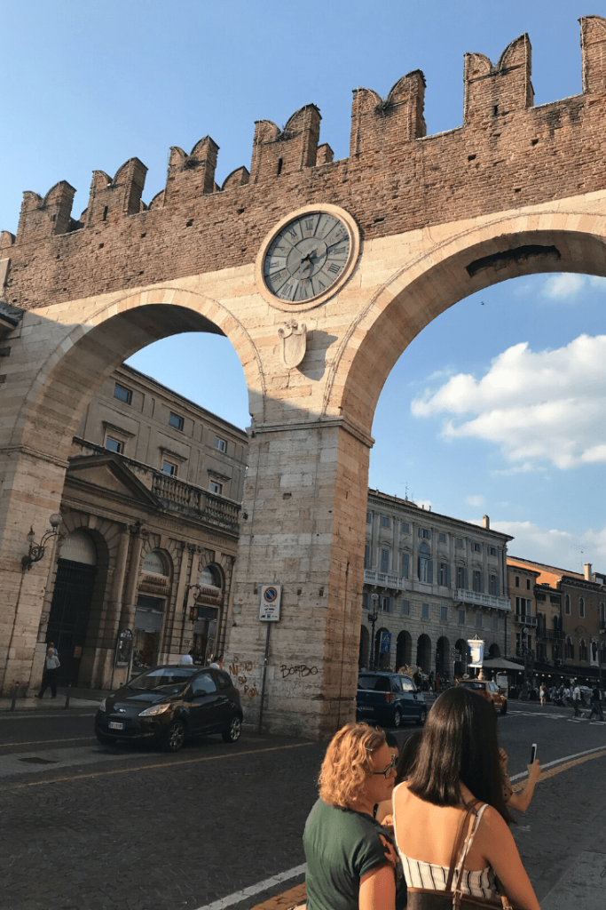 What to do in Verona with kids: Bra Gate; what to do in the north of Italy with a small child