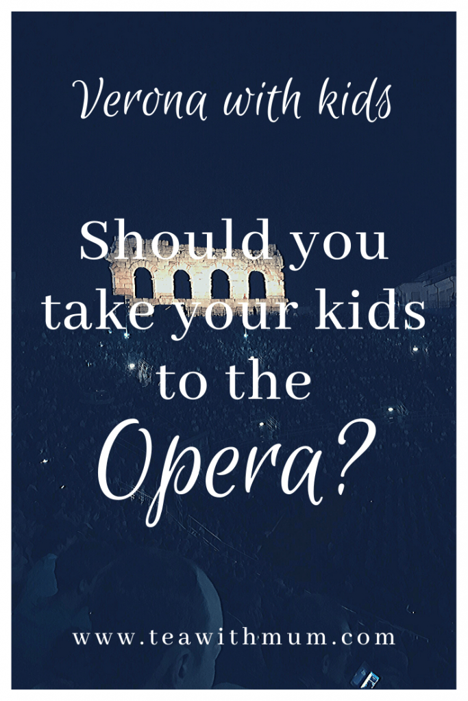 Should you take your kids to the opera in Verona?; The Arena during a performance: What to do in Verona with kids