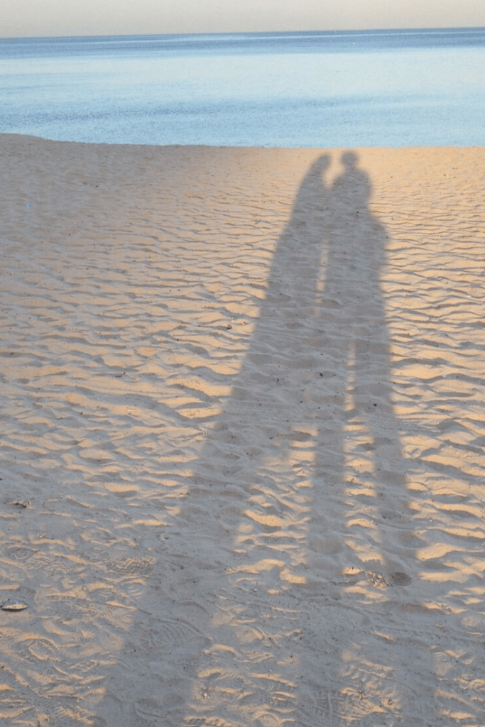 Peter and I on the beach, having some time to ourselves, while we work out what path to take following our ectopic pregnancy. Our ectopic pregnancy and how I was made to feel defective. Infertility and infant loss month.