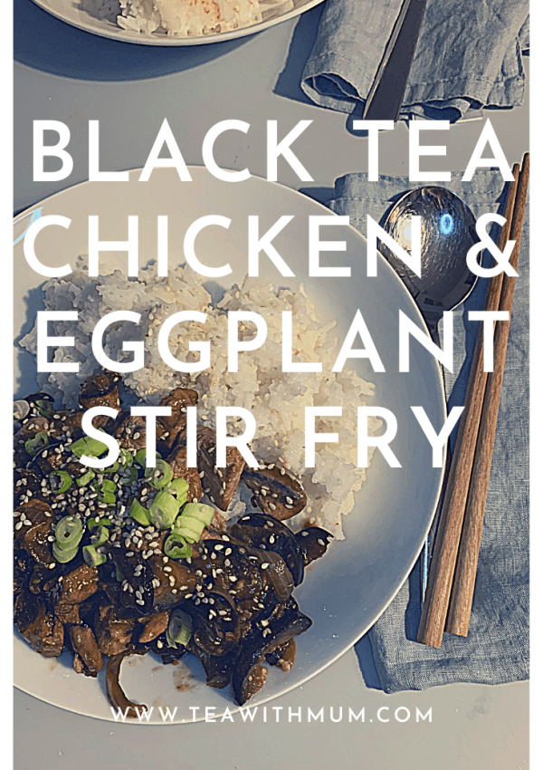 Simple black tea chicken and eggplant stir-fry