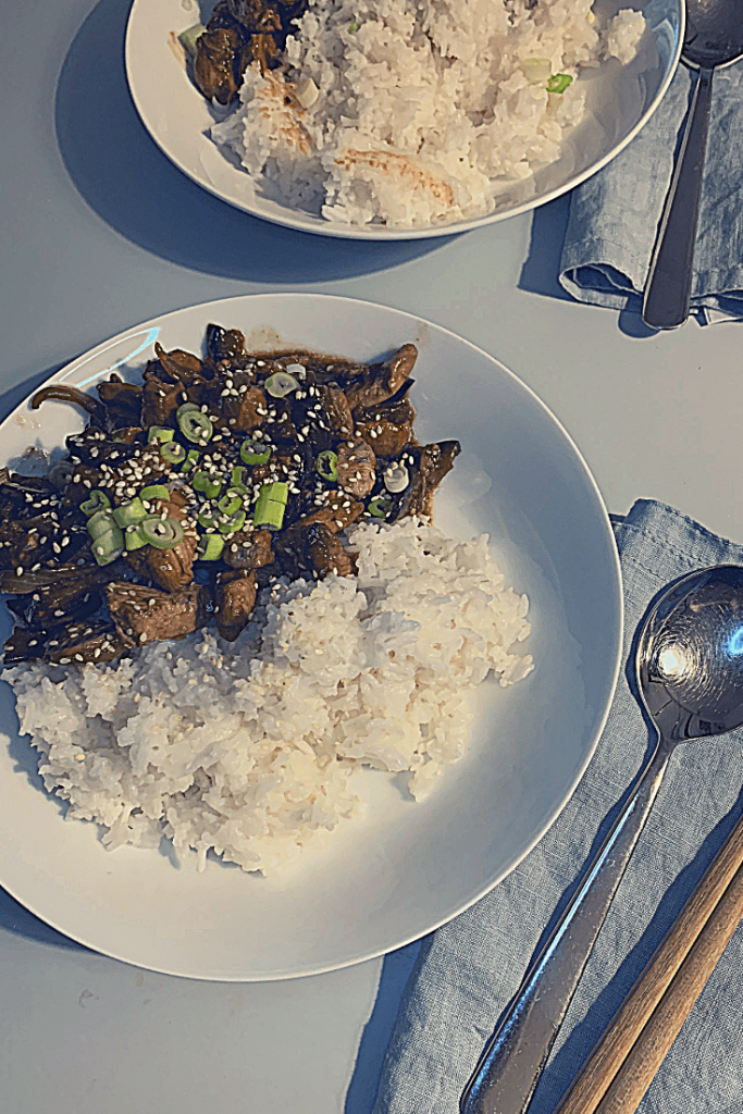 The tea recipes #3: black tea chicken and eggplant stir fry, ready to eat: Using black tea as a marinade for chicken