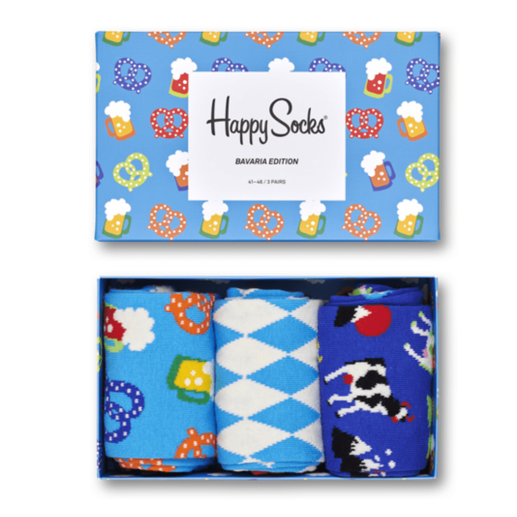 Get some travel socks for him! These fun Oktoberfest-themed socks are a great stocking stuffer for someone who has just been to the Oktoberfest or anywhere in Bavaria; great travel gifts for him