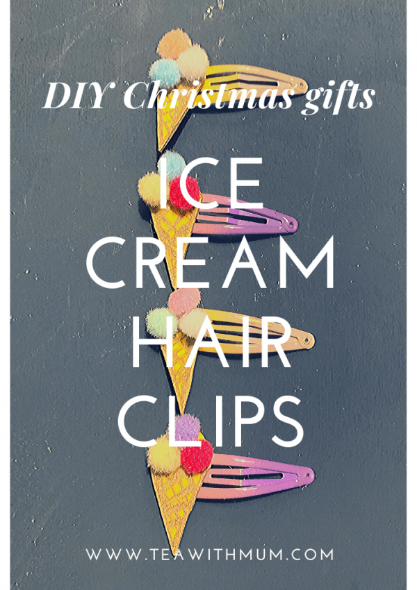 Cute ice cream hair clips: the perfect DIY stocking stuffer for young girls