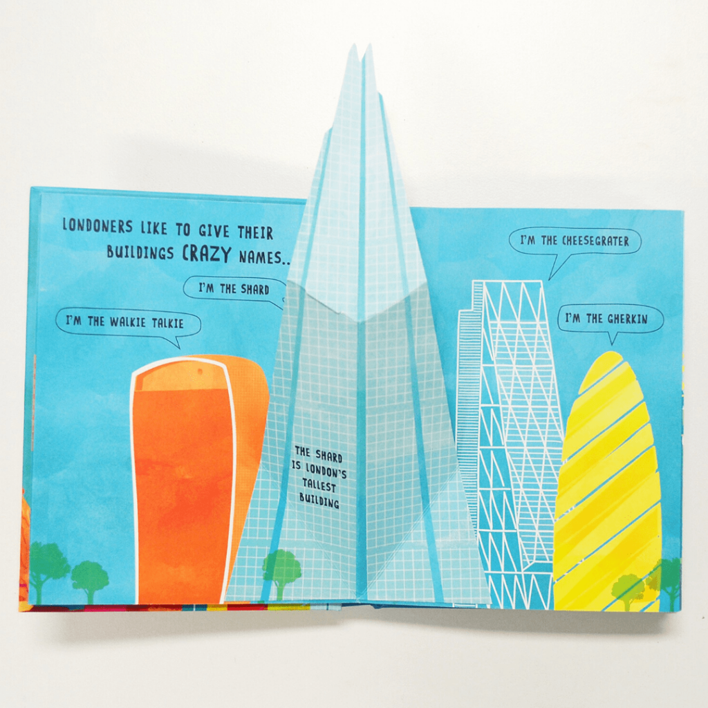 """Lonely Planet Kids """"Pop-up London"""" by Andy Mansfield; the perfect stocking stuffer for a young child if you are planning a trip to London soon; check out the other cities in the series or some of the other London pop-up books available; Perfect gifts for little travel junkines"""