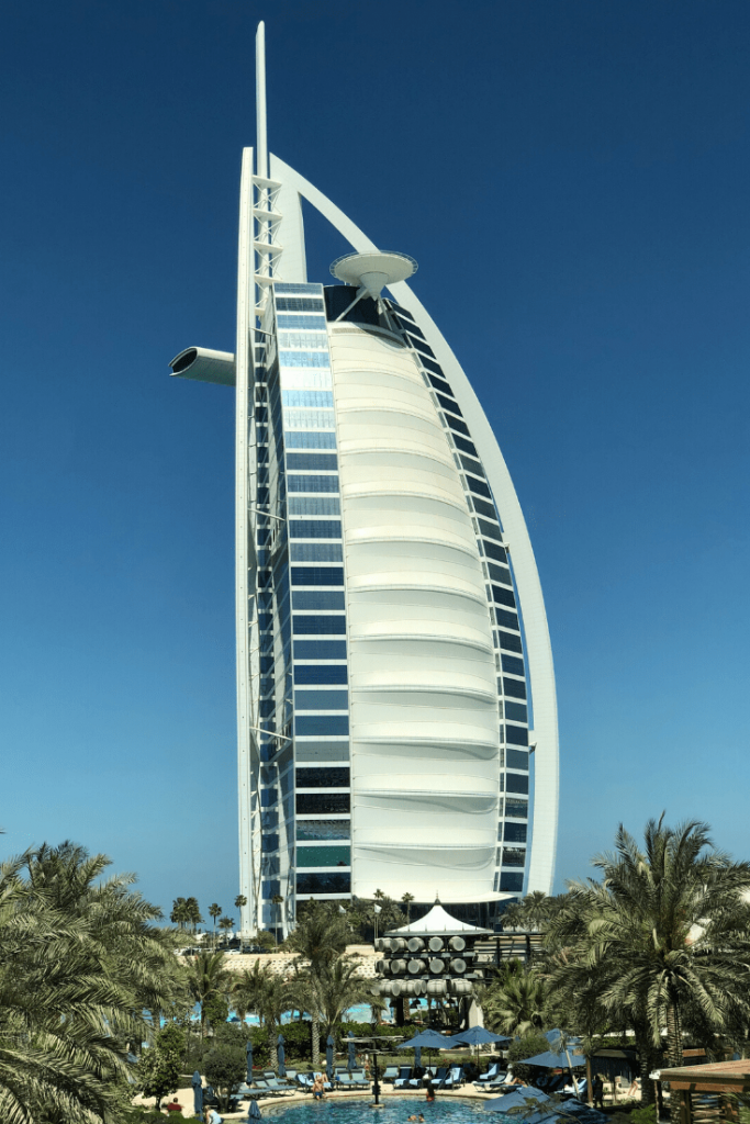 The Burj al Arab, one of the sites we will see in Dubai; a family holiday in Dubai; gift the experience; top gifts for travellers