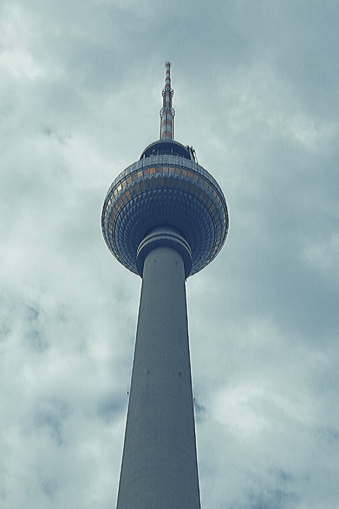 The Television Tower at Alexanderplatz in the former East Berlin; one of the most significant landmarks in East Berlin prior to the fall of the Berlin Wall; 30 year anniversary of the fall of the Berlin Wall